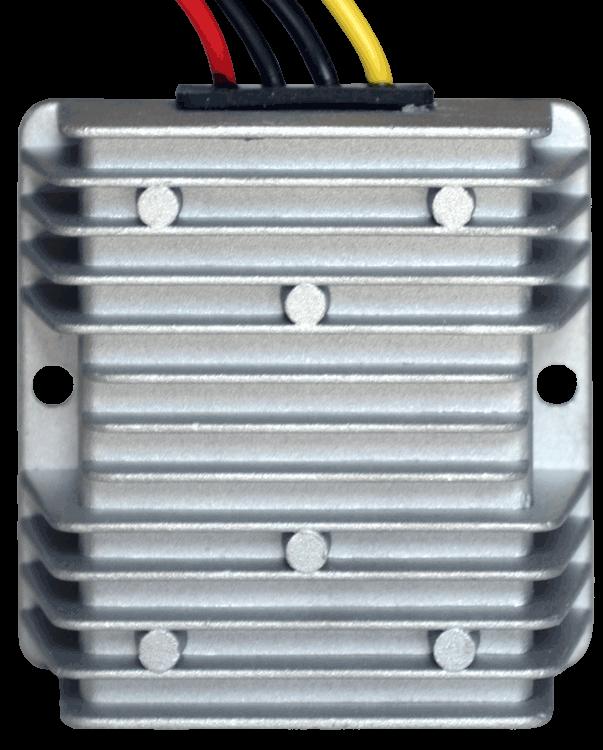 DC/DC converter 48V naar 24V 240W, 10A, waterdicht bovenaanzicht