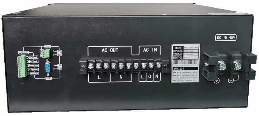 19inch rack mount 220V naar 230V omvormer 8000W zuivere sinus aansluitingen