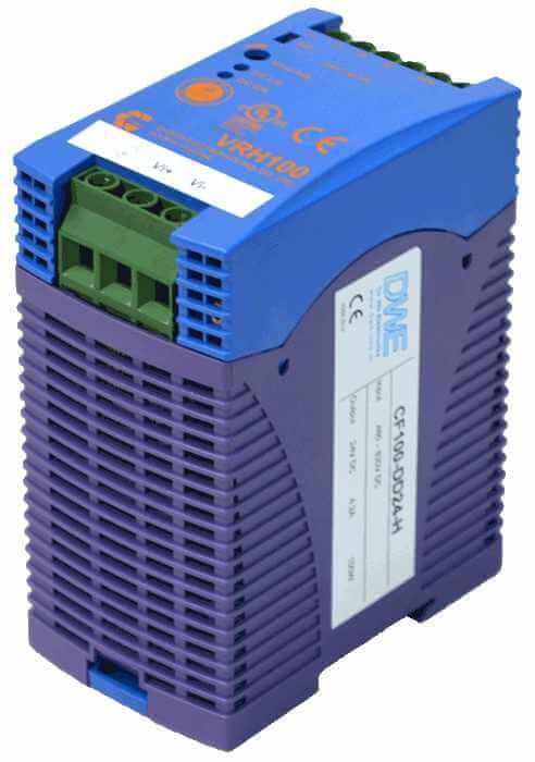 DC/DC converter 800V naar 24V 1000W, 4,2A, geisoleerd, aanzicht rechtsvoor