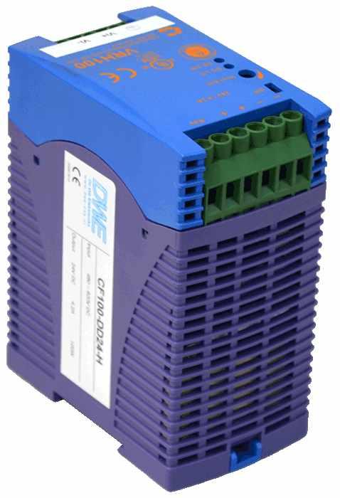 DC/DC converter 800V naar 24V 1000W, 4,2A, geisoleerd, aanzicht linksvoor
