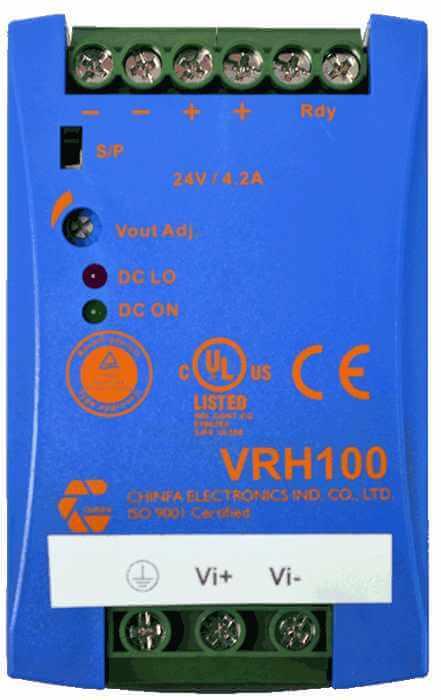 DC/DC converter 800V naar 24V 1000W, 4,2A, geisoleerd, bovenaanzicht