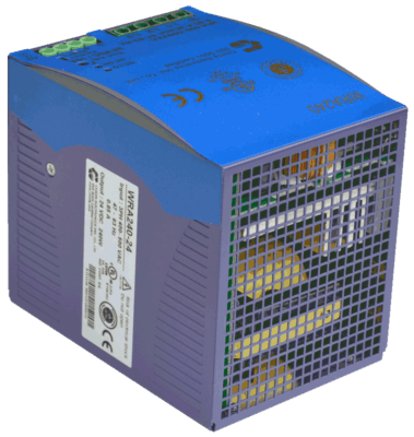 WRA240 3 fase power supply 240W 24V 48V back