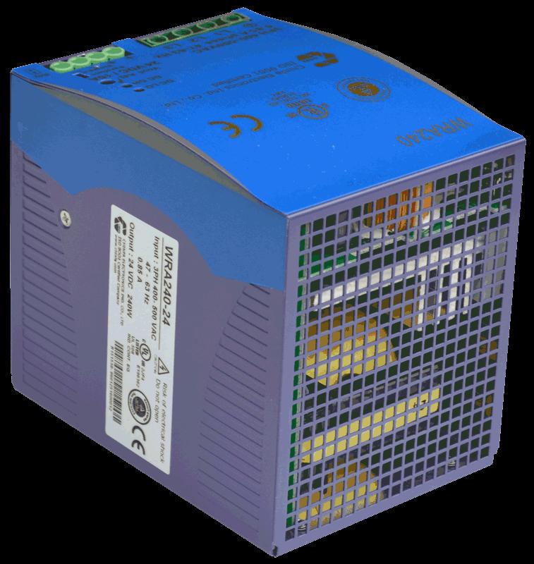 24V DC/DC converter 240W, 10A, DIN-rail, type WRA240
