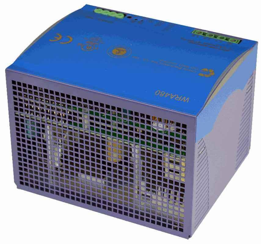 48V DC/DC converter 360W, 7,5A, DIN-rail, type WRA480