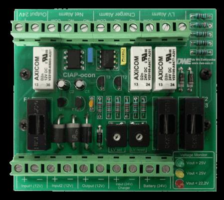 CIAP ocon voltage monitor spannings monitor bewaking bovenkant aansluitingen