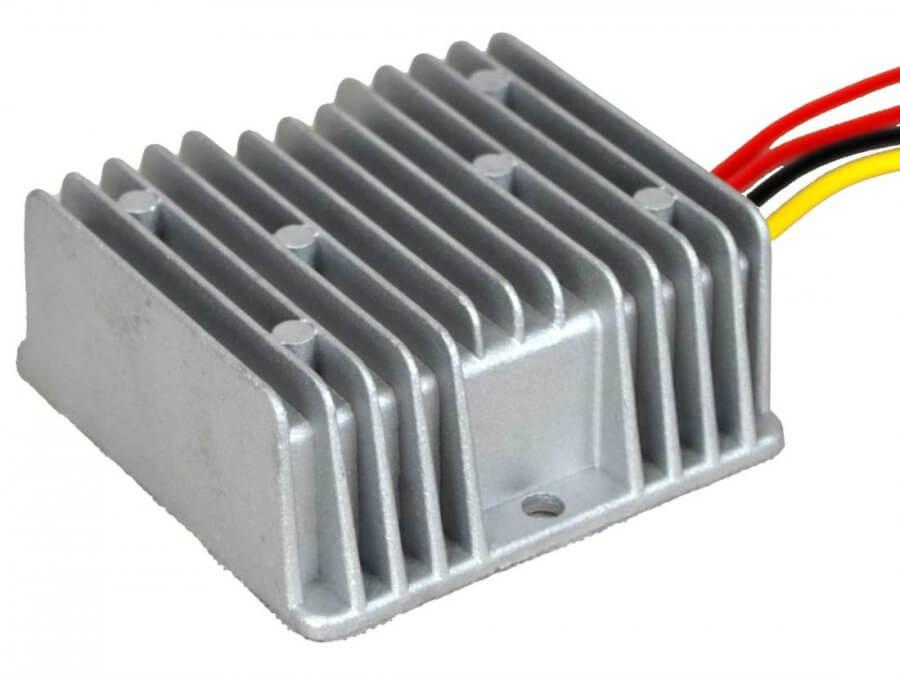 12V naar 24V AC/DC converter waterdicht, 120W, 5A. Achterzijde