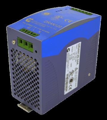 120W gestabiliseerde voeding geschakeld DRAN120 12V 24V 48V DC back-side