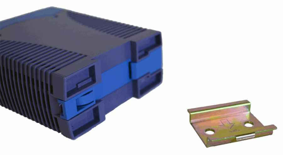 DC/DC converter 110V naar 12V, 5A, DIN-rail bevestiging