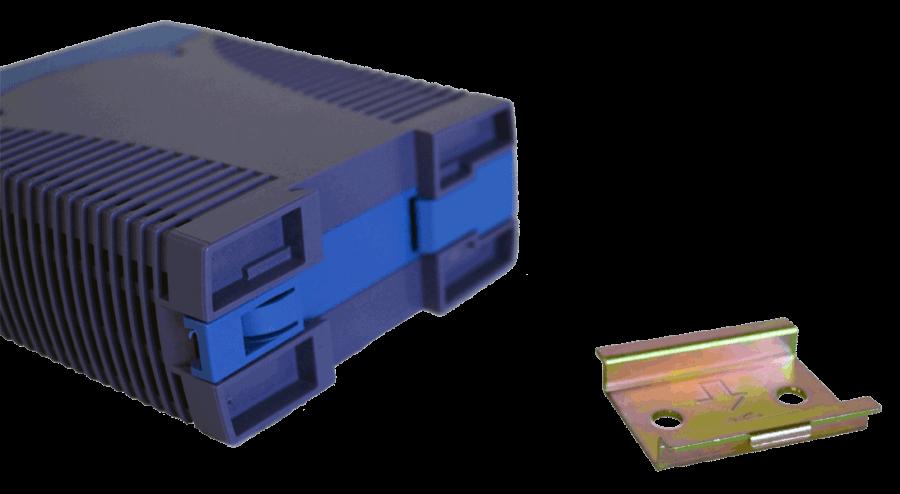 DC/DC converter 96V naar 12V, 5A, DIN-rail bevestiging