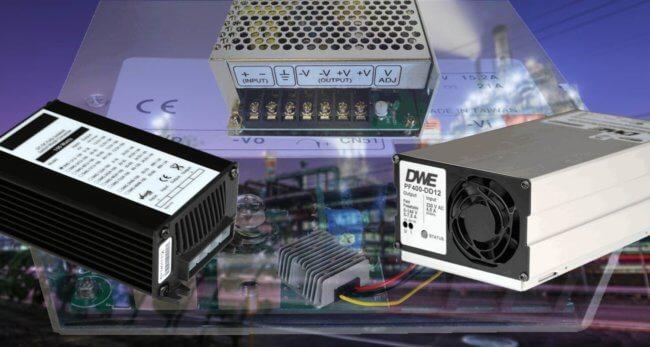 dc-dc converters omvormers PF-serie DR-serie MW-serie CP-serie