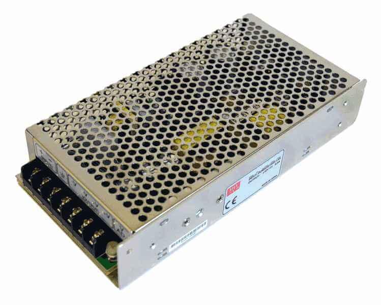 DC/DC converter 60V naar 5V 100W, 20A, geisoleerd, aanzicht linksvoor