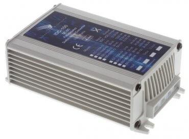 IDC-100 72V naar 12,5V DC/DC converter 8A, 100W galvanische scheiding, aanzicht linksvoor