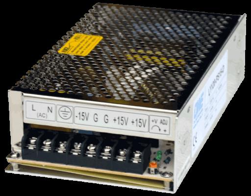 LY120-PS gestabiliseerde voeding dual output 5V 12V 15V 24V aansluting voorkant