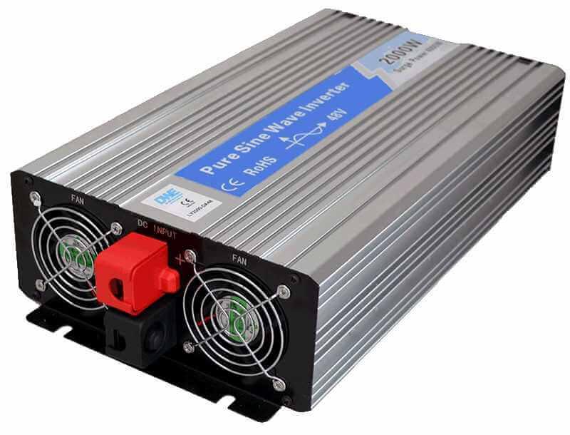omvormer 36V naar 230V zuivere sinus 2000W , achterkant