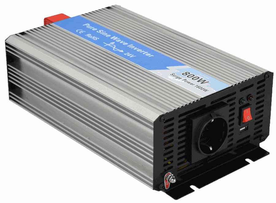 omvormer 36V naar 230V zuivere sinus 800W , voorzijde links