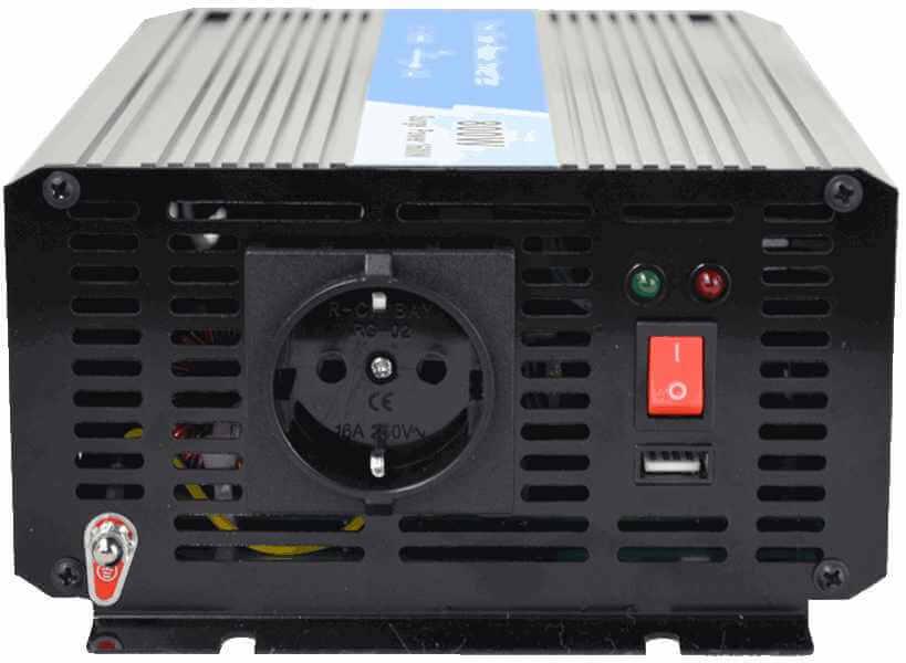 omvormer 36V naar 230V zuivere sinus 800W , aansluitingen