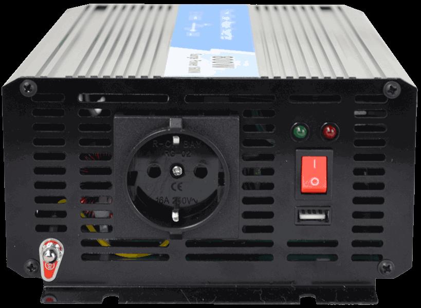 omvormer 24V naar 230V zuivere sinus 800W , aansluitingen