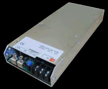 DC/DC converter 96V naar 12V 1000W, 60A, geisoleerd, aanzicht linksvoor