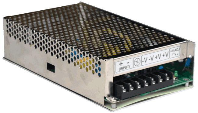 DC/DC converter 150w 96V naar 24V connections