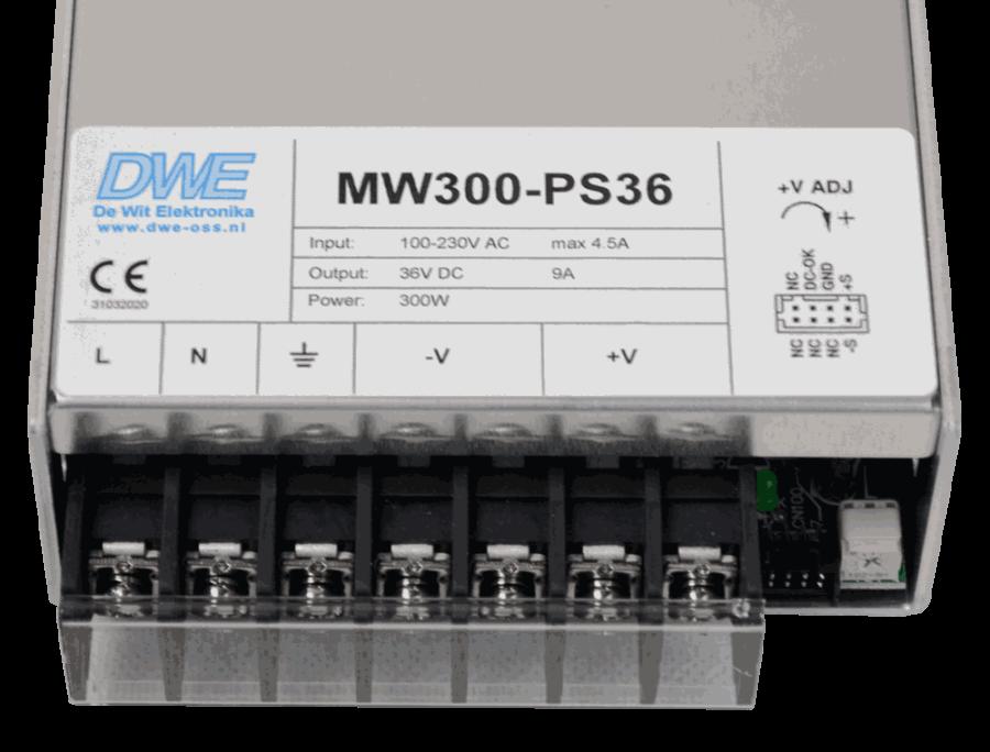 5V voeding gestabiliseerd 300W aansluitingen