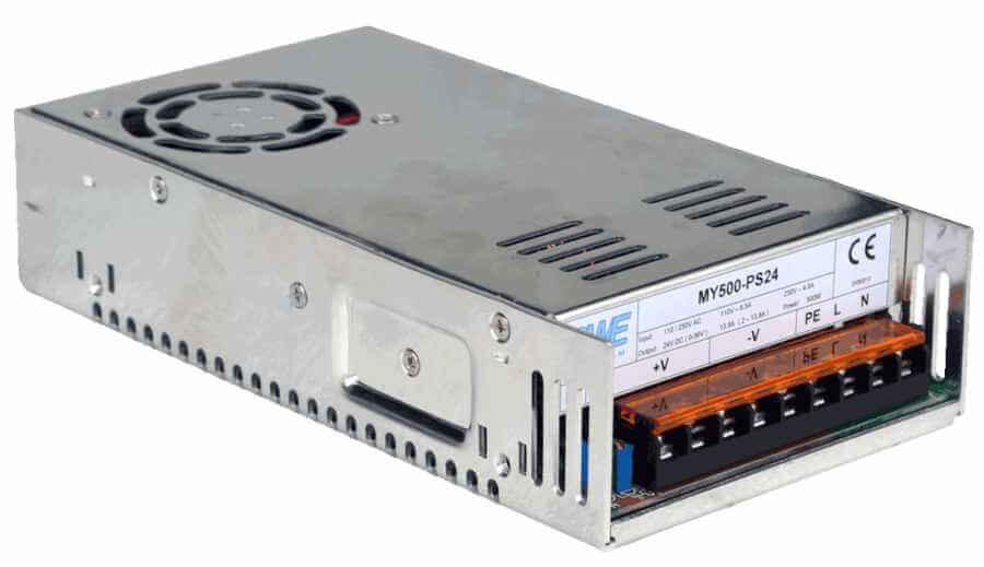 12V voeding 33A, stroombron 500W aanzicht linksvoor