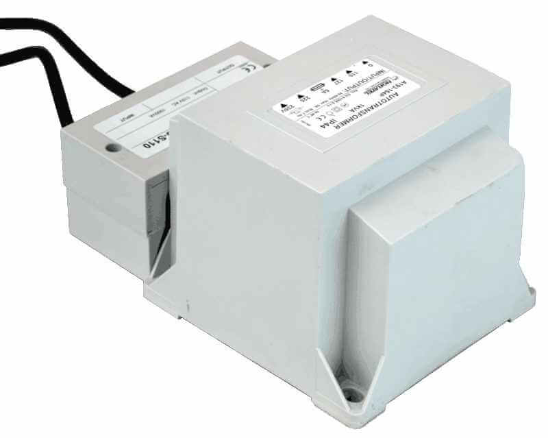 transformer 230V to 110V back view