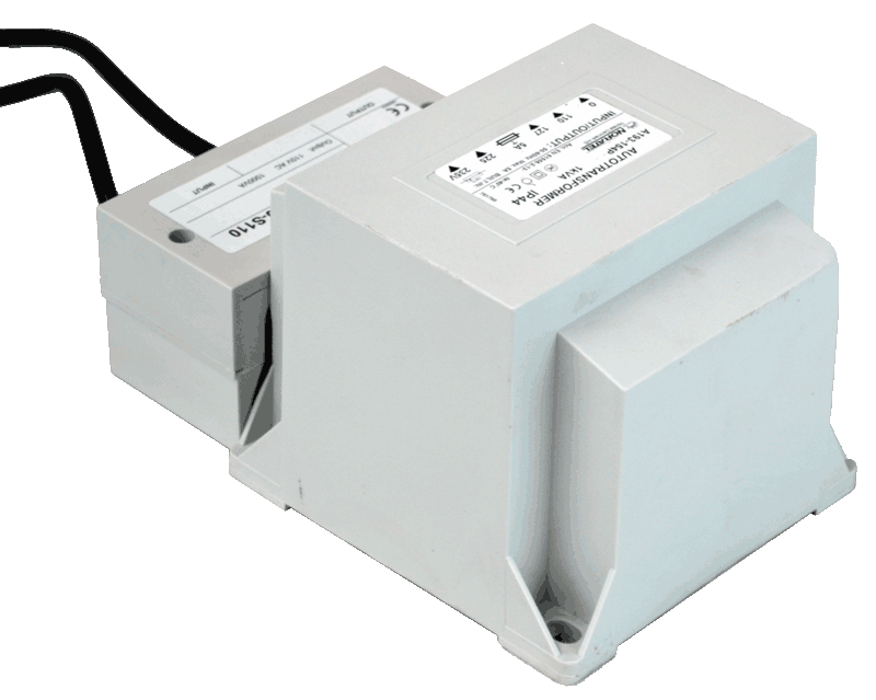 transformer 230V to 110V back view