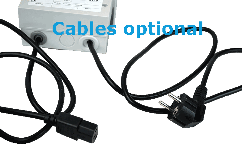 transformer 230V to 110V input and output cable