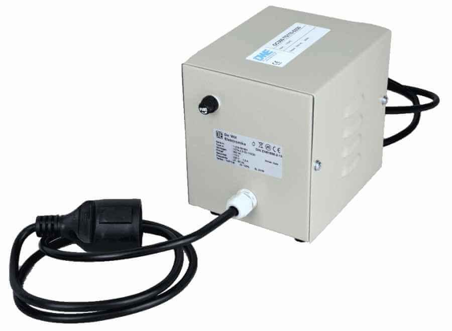 Transformator 110V naar 230V met zekering