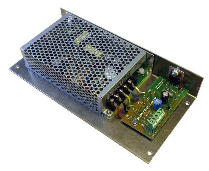 36 naar 12V DC/DC converter aansluitingen