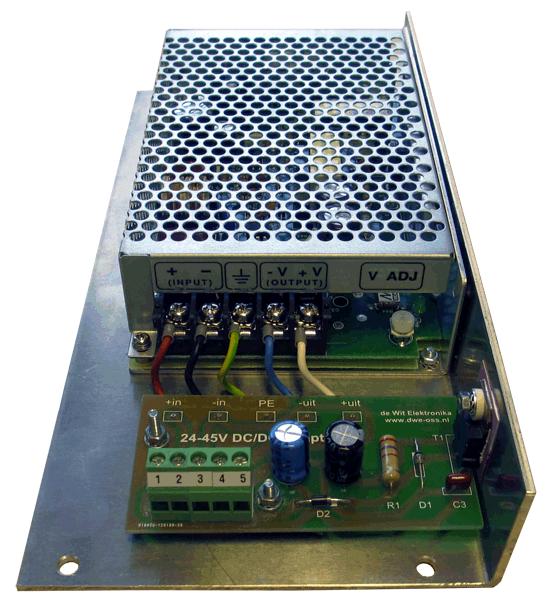 36 naar 12V DC/DC converter bovenkant