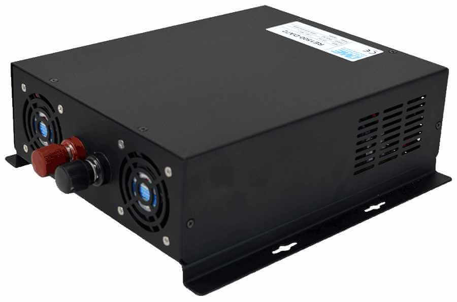 48V naar 230V omvormer 1500W zuivere sinus achterzijde