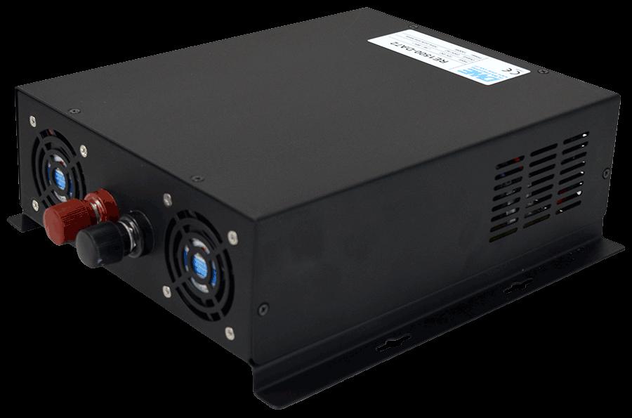 12V naar 230V omvormer 1500W zuivere sinus achterzijde