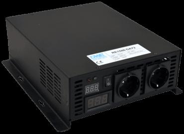 omvormer 12V naar 230V zuivere sinus 1500W , voorzijde