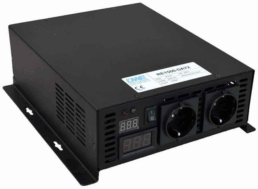 omvormer 48V naar 230V zuivere sinus 1500W , voorzijde