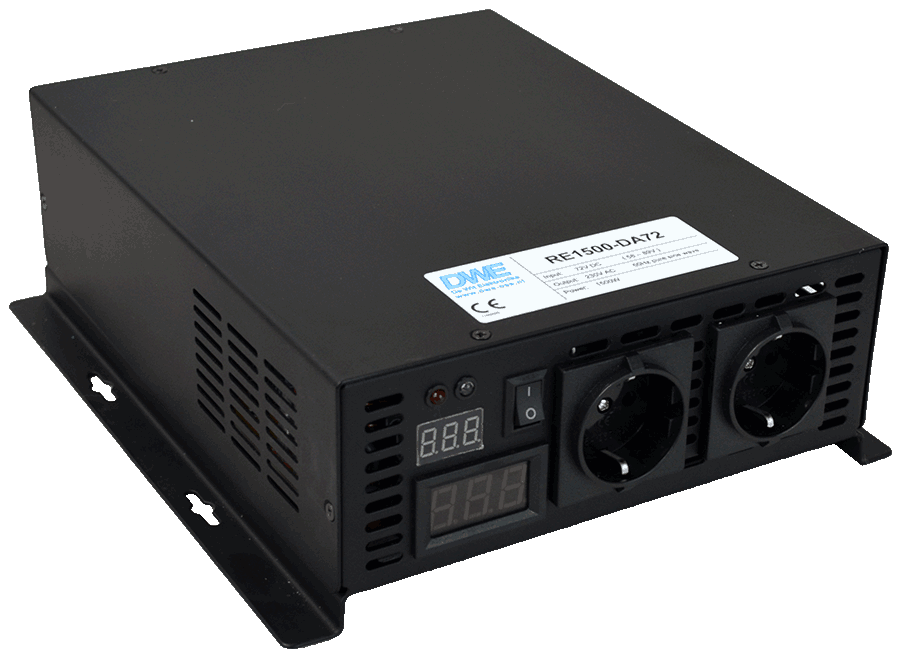omvormer 24V naar 230V zuivere sinus 1500W , voorzijde