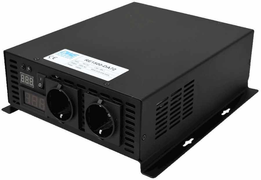 48V naar 230V zuivere sinus inverter 1500W , voorzijde