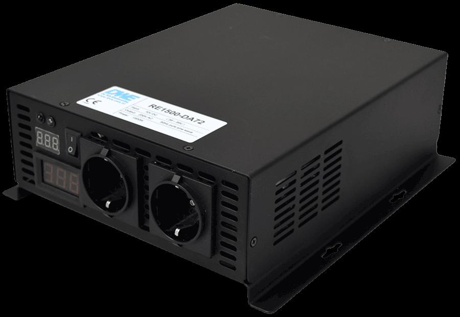 24V naar 230V zuivere sinus inverter 1500W , voorzijde