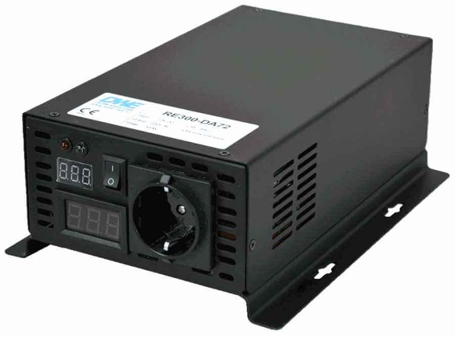 12V naar 230V zuivere sinus inverter 300W , voorzijde