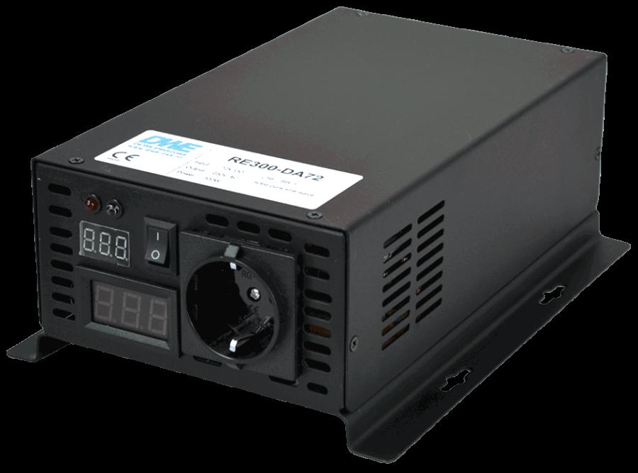 60V naar 230V zuivere sinus inverter 300W , voorzijde