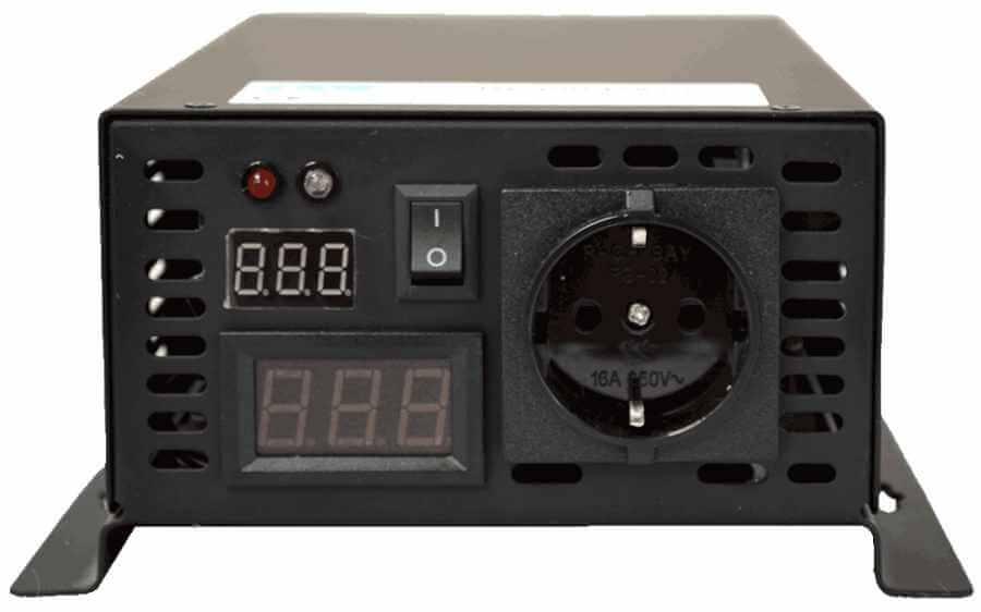 24V naar 230V omvormer 300W zuivere sinus aansluitingen