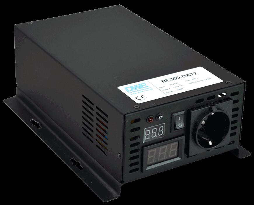 omvormer 60V naar 230V zuivere sinus 300W , voorzijde