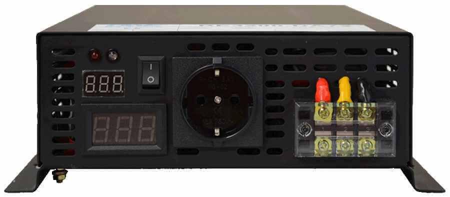 60V naar 230V omvormer 3200W zuivere sinus aansluitingen