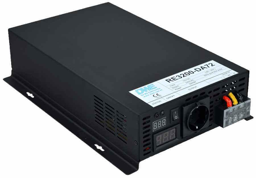 omvormer 96V naar 230V zuivere sinus 3200W , voorzijde