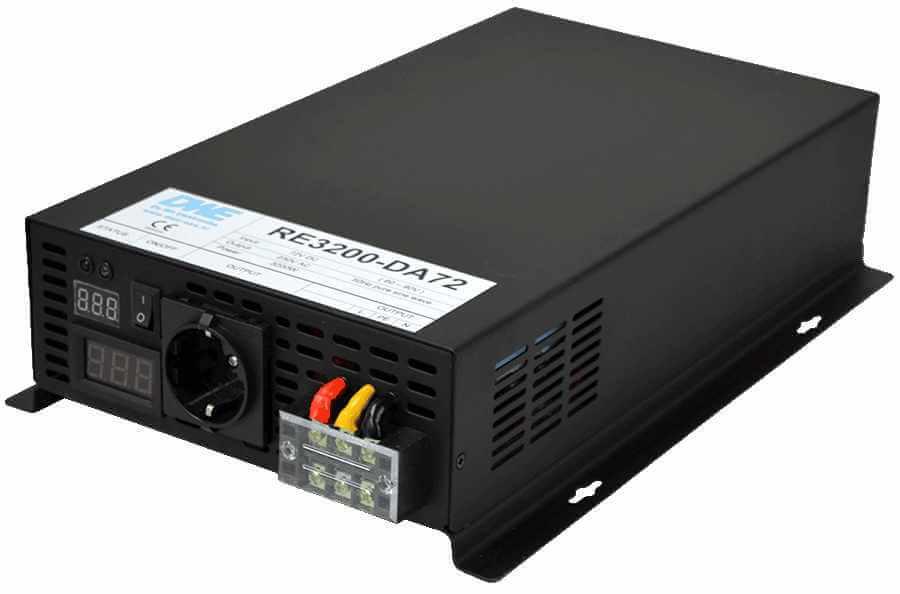 96V naar 230V zuivere sinus inverter 3200W , voorzijde