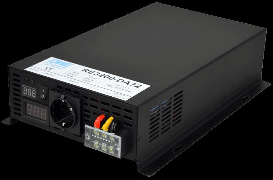 60V naar 230V zuivere sinus inverter 3200W , voorzijde