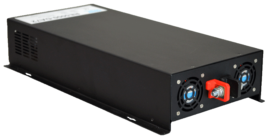 12V naar 230V omvormer 5000W zuivere sinus achterzijde