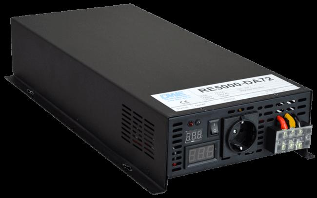 omvormer 96V naar 230V zuivere sinus 5000W , voorzijde