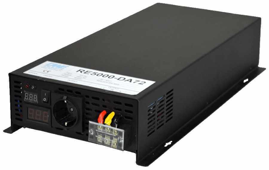 60V naar 230V zuivere sinus inverter 5000W , voorzijde