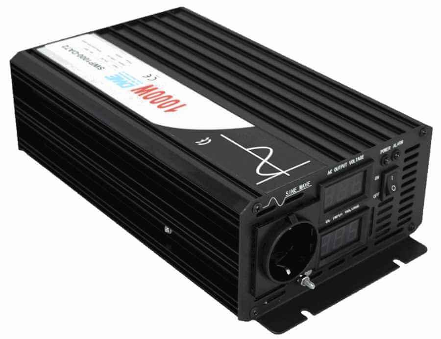 omvormer 60V naar 230V zuivere sinus 1000W , voorzijde